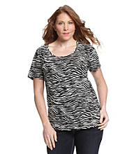 Jones New York Sport® Plus Size Scoopneck Tee