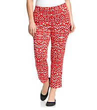 Jones New York Sport® Plus Size Animal Printed Cropped Pant