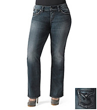 Silver Jeans Co. Plus Size Mckenzie Straight Fit Low-Rise Bootcut Jeans