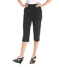 Briggs New York® Petites' Bi-Stretch No Gap Waist Capri