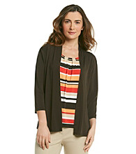 Alfred Dunner® Petites' Monaco Striped Layered-Look Top