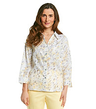 Alfred Dunner® Petites' City of Light Allover Printed Shirt