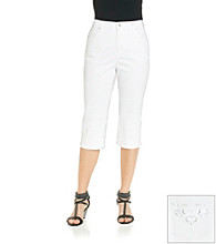 Gloria Vanderbilt® Petites' Amanda Radiance Denim Embellshed Pocket Capri