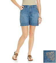Gloria Vanderbilt® Petites' Denim Short with Embroidered Back Pocket