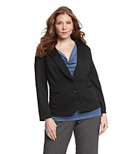 AGB® Plus Size Ponte Jacket