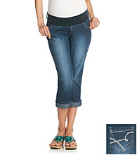 Three Seasons Maternity™ Boyfriend Crop Stretch Denim Capri