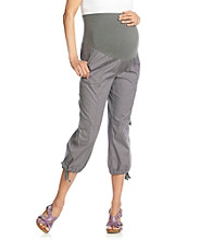 Three Seasons Maternity™ Cargo Capri With Drawstring Leg