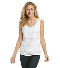 Relativity® Sequin Mixed Tiered Tank