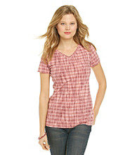 Ruff Hewn Striped V-neck Pocket Tee