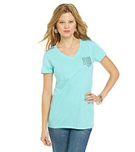 Ruff Hewn Studded Pocket V-neck Tee