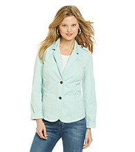 Ruff Hewn Long Sleeve Washed Canvas Blazer