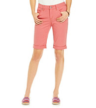 Ruff Hewn Colored Denim Bermuda Shorts
