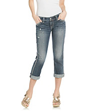 Silver Jeans Co. Twisted Slightly Curvy Fit Low-Rise Capri Jeans