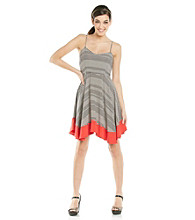 Jack by BB Dakota Nash Dot Stripe Colorblocked Tank Dress
