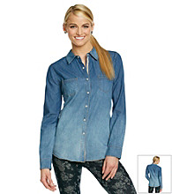 Jolt® Medium Wash Denim Shirt