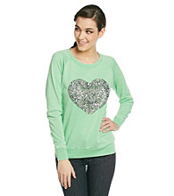 Awake Sweatshirt with Sequin Heart Applique