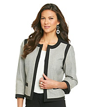 Kasper® Plus Size Framed Flyaway Jacket