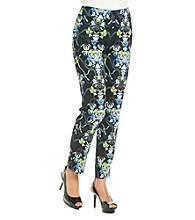 Nine West® Cotton Stretch Printed Skinny Pant