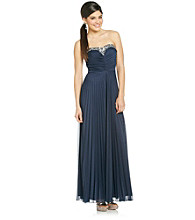 Bee Darlin' Juniors' Strapless Pleated Gown