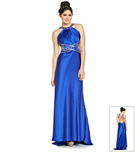 Morgan and Co.® Juniors' Satin Beaded Gown