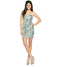 Trixxi® Juniors' Strapless Sequin Fitted Dress