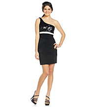 Ruby Rox® Juniors' One-Shoulder Bandage Dress