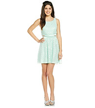 Trixxi® Juniors' Foil Dot Cut-Out Dress