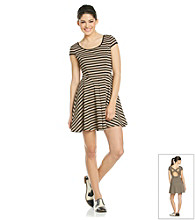 As U Wish® Juniors' Short Sleeve Stripe Dress