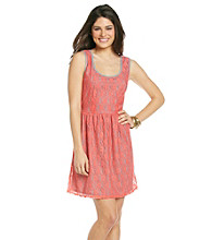 Be Bop Juniors' Lace Tank Dress