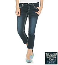 Hydraulic® Juniors' Fleur-De-Lis Bling Pocket Cropped Jeans