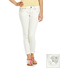 Hydraulic® Juniors' Bling Pocket Cropped Jeans