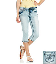 Hydraulic® Juniors' Flap Back Pocket Cropped Jeans