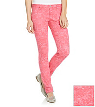 Blue Spice® Juniors' Rose Print Skinny Jean