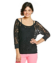 Eyeshadow® Juniors' Lace Dolman