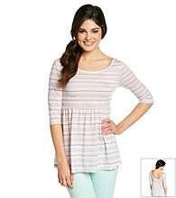 Belle du Jour Juniors' Striped Babydoll