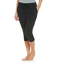 Zoe & Bella @ BT Knit Harem Capri Pants - Jet Black