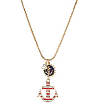 Betsey Johnson® Pink Anchor Pendant Necklace