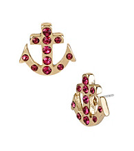 Betsey Johnson® Fuchsia Anchor Stud Earrings