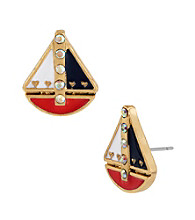 Betsey Johnson® Multi-Colored Sailboat Stud Earrings