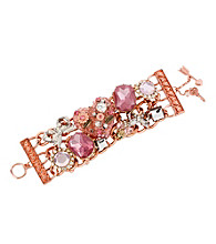 Betsey Johnson® Rose Vintage Heart Toggle Bracelet