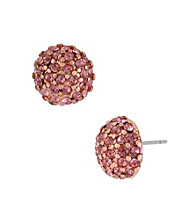 Betsey Johnson® Rose Round Crystal Stud Earrings