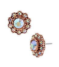 Betsey Johnson® Round Crystal Gem Stud Earrings