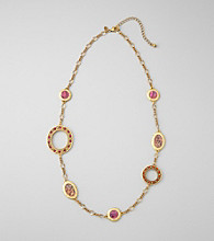 Laura Ashley® Pink Abalone/Goldtone 32