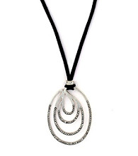Jessica Simpson Modern Twist Pendant Necklace