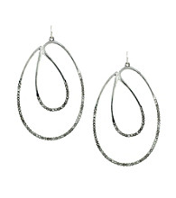 Jessica Simpson Modern Twist Drop Earrings