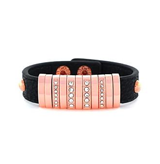 Jessica Simpson Sparkling Snap Bracelet