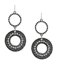 Jessica Simpson Silvertone Double Drop Earrings