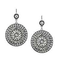 Jessica Simpson Silvertone Drop Earrings