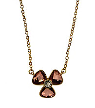 Anne Klein® Goldtone Rose Flower Pendant Necklace