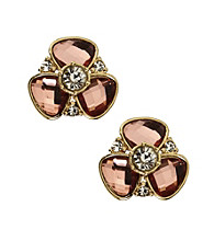 Anne Klein® Goldtone Flower Stud Earrings